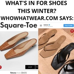 Other - Square-toe is in! Shoe trends for winter